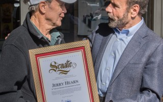 Jerry Hearn Receives Award from Jerry Hill