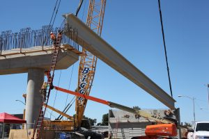 HSR station under construction in Fresno. Photo by: California High Speed Rail Authority