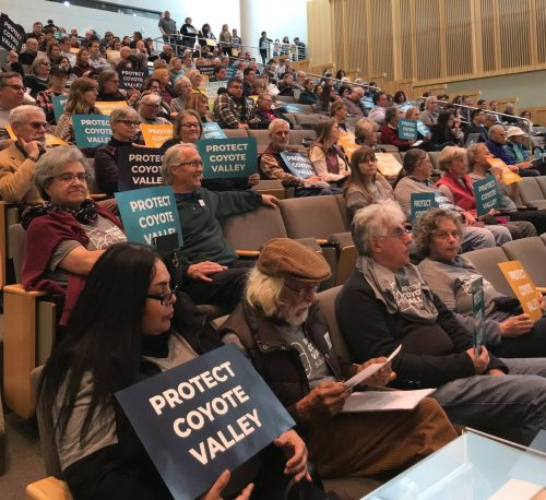 Hundreds Rally for Coyote Valley