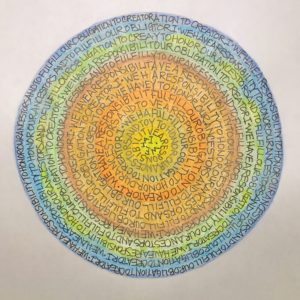 Creative Mindfulness Art Activity: Bright Words Mandala