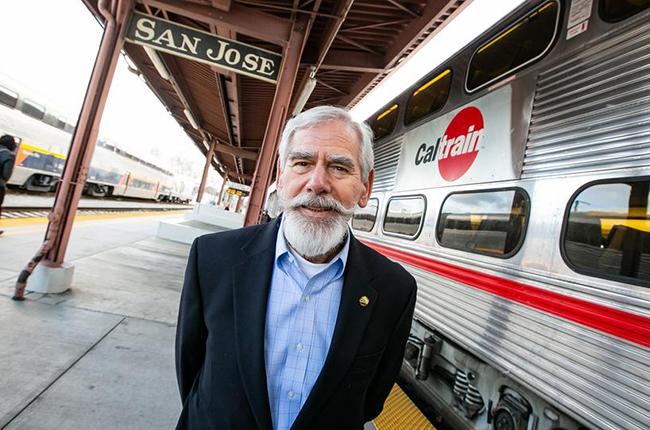 Rod Diridon Sr. at train station