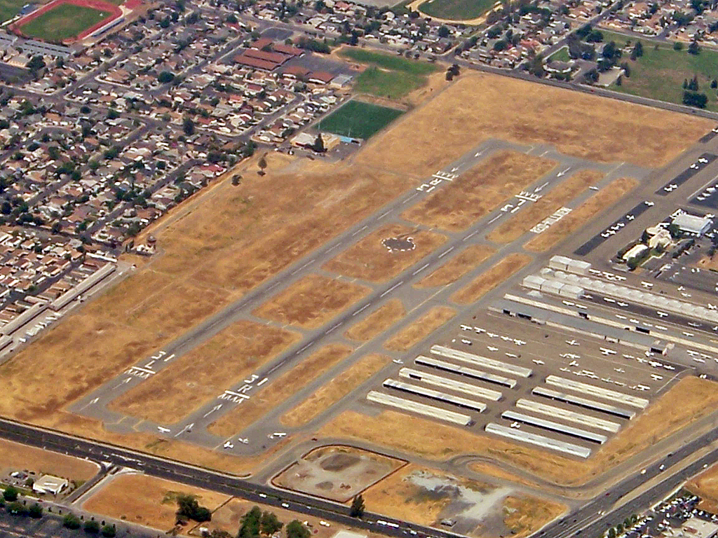Reid-Hillview Airport aerial view